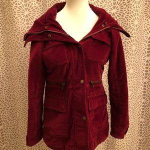 New York & Company Burgundy Red Zip Up Jacket